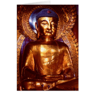 Six Banyan Tree Temple Buddha Greeting Card