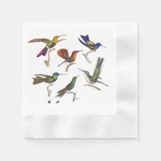 Six Beautiful Hummingbirds Disposable Napkin