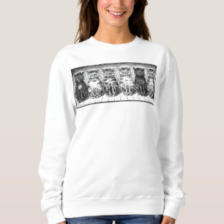Six Cats Waiting To Be Fed Sweatshirt