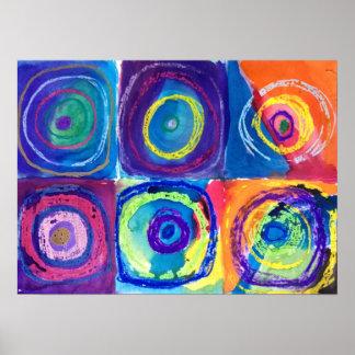 six circles (after kandinsky) poster