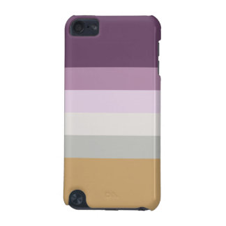 Six Colors - Blue Violet Purple Pink Gray Yellow iPod Touch (5th Generation) Cover