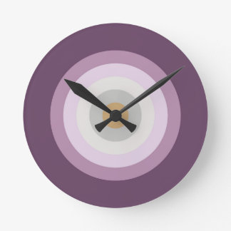 Six Colors - Blue Violet Purple Pink Gray Yellow Round Clock