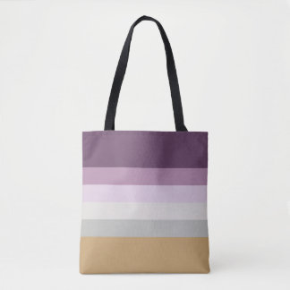 Six Colors - Blue Violet Purple Pink Gray Yellow Tote Bag
