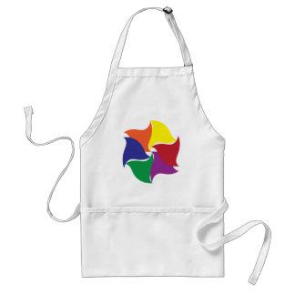 six colors twist apron