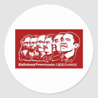 Six Communists Classic Round Sticker