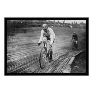 Six Day Bicycle Race 1909 Poster