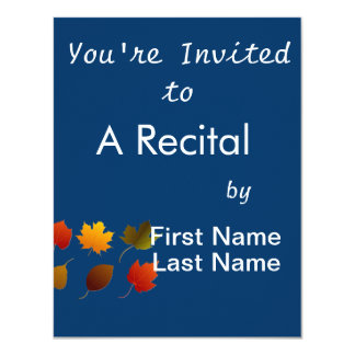 "six fall colour leaves nature image graphic.png 4.25"" x 5.5"" invitation card"