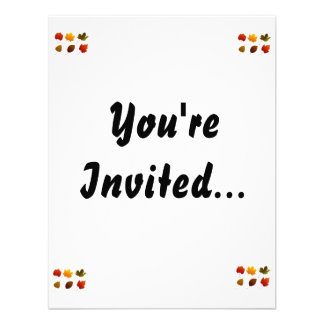 six fall colour leaves nature image graphic png custom invitations