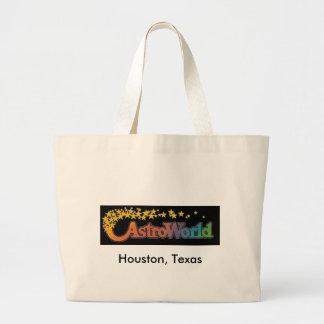 Six Flags Astroworld Amusement Park (HoustonTexas) Large Tote Bag