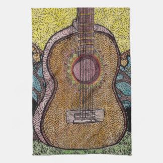 #Six Guitar Dish Towel Design