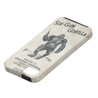 Six-Gun Gorilla Machine Gun 40s Movie ChimpScience iPhone 5 Cases