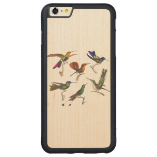 Six Hummingbirds Carved Maple iPhone 6 Plus Bumper Case