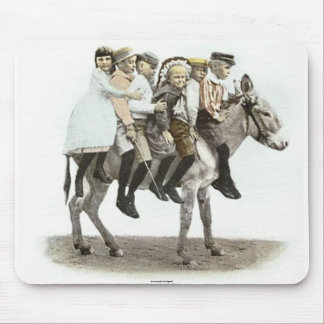 Six Kids On A Burro Mouse Pad