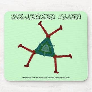 Six-Legged Alien Mouse Pad