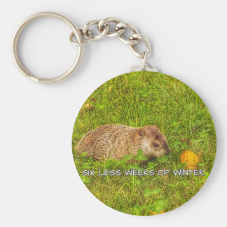 Six less weeks of winter keychain