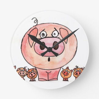 Six Little Pigs Clocks