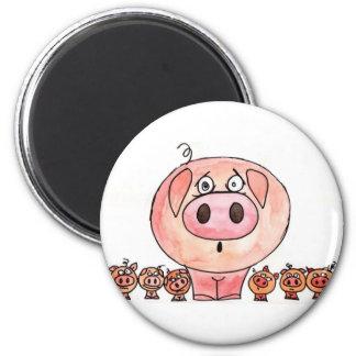 Six little pigs magnet