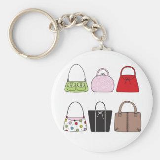 Six Little Purses Keychain