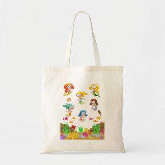 Six Mermaid Girlfriends Tote Bag