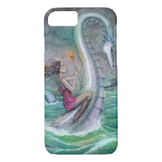 Six of Wands Tarot Art Serpent and Woman Fantasy iPhone 7 Case