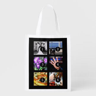 Six of Your Photos to Make Your Own Keepsake Reusable Grocery Bag
