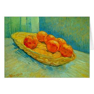 Six Oranges by Vincent Willem van Gogh Card