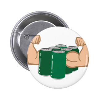 Six Pack Bro 2 Inch Round Button