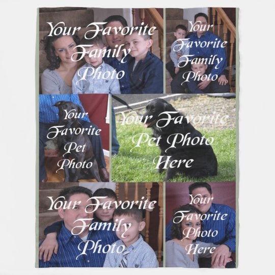 Six Panel Your Photo Here Fleece Blanket