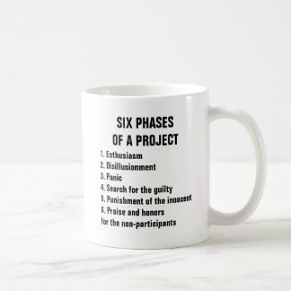 Six phases of a project 1. Enthusiasm 2.Disillusio Coffee Mug