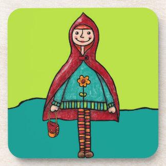 Six Plastic Coasters, Little Red Riding Hood Coaster