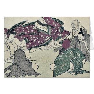 Six poets by Kitagawa, Utamaro Ukiyoe Card
