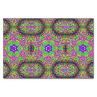 six-point stars purple green blue tissue paper