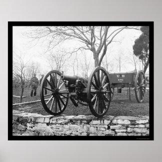 Six Pounder Artillery Gun in Washington, DC 1862 Poster