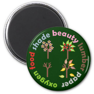 Six Reasons To Plant a Tree 2 Inch Round Magnet