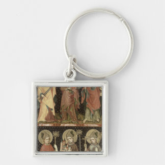 Six Saints Silver-Colored Square Keychain
