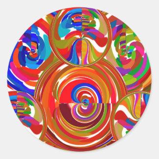 Six Sigma Circles - Reiki Color Therapy Plates V8 Round Sticker