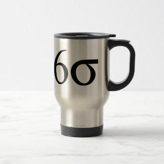 Six sigmas (maigre six sigmas) mug de voyage en acier inoxydable