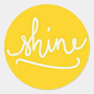 Six Super Glossy Shine Stickers