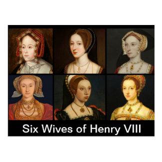Six Wives of Henry VIII Postcard
