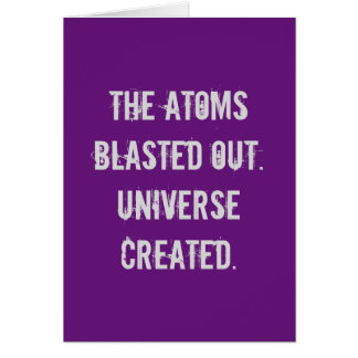 Six-word Story Card: The Atoms Blasted Card