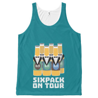 Sixpack Beer on Tour Zn1pu All-Over-Print Tank Top