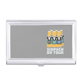Sixpack Beer on Tour Zn1pu Business Card Holder