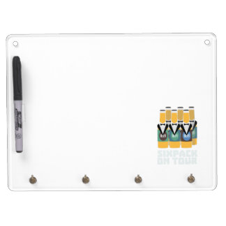 Sixpack Beer on Tour Zn1pu Dry Erase Board With Keychain Holder