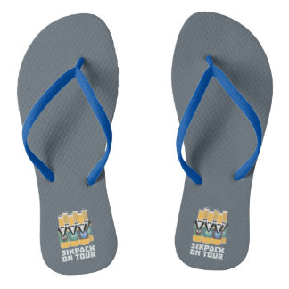 Sixpack Beer on Tour Zn1pu Flip Flops