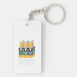 Sixpack Beer on Tour Zn1pu Keychain