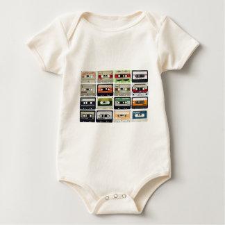 Sixteen Audio Cassettes Baby Bodysuit