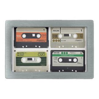 Sixteen Audio Cassettes Belt Buckle