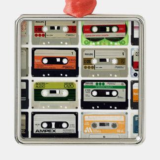 Sixteen Audio Cassettes Metal Ornament