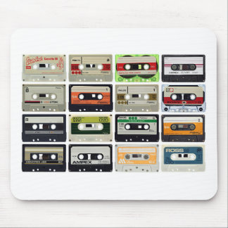 Sixteen Audio Cassettes Mouse Pad