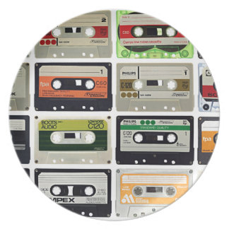 Sixteen Audio Cassettes Plate